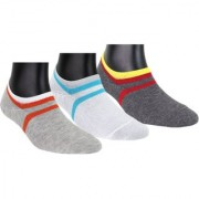 Neska Moda 3 Pair Unisex Multicolor Cotton No Show Loafer Socks S169