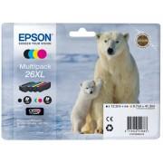 Epson 26XL Origineel Inktcartridge C13T26364010 Zwart & 3 Kleuren 4 Stuks