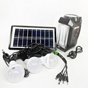 Kit Solar Lanterna LED, Lampa U, Radio FM, SD, USB MP3, 4V4Ah GD8057