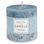 Maisons du Monde Dark blue cylindrical scented candle 7 x 7 cm