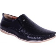 Shoebook Mens Black Loafers For Men(Black)