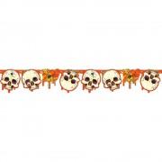 Banner decorativ pentru petrecere halloween cu cranii 1.8 m, amscan 551810, 1 buc