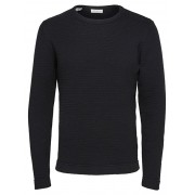 SELECTED HOMME Pulover bărbătesc SLHVICTOR CREW NECK W NOOS Black XL