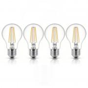 Philips Pack 4 Lâmpadas LED 7W E27 Branco Neutro