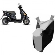 AUTOAGE Premium SILVER with BLACK Bike Body Cover For Hero Electric Bikes Electric Cruz