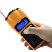 Ultrazvukový merač vzdialenosti s laserom