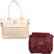 Element Cart Women Maroon, Beige Messenger Bag(Pack of: 2)