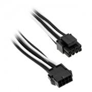 Cablu prelungitor Phanteks 8-pini EPS12V, 50cm, Black/White, PH-CB8P_BW