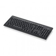 Клавиатура Fujitsu KB410, slim, черна, USB