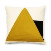 Kave Home Funda cojín Sinna 45 x 45 cm amarillo