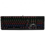 mechanical keyboard with Kailh blue switches Lightning effect and windows key lock (Black)..