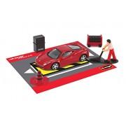 burago Race and Play Red Ferrari 458 Italia Scene Set 1. 43 Scale Diecast Model