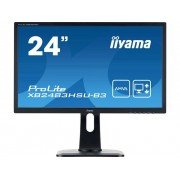 Iiyama XB2483HSU-B3 LED-monitor 60.5 cm (23.8 inch) Energielabel B (A++ - E) 1920 x 1080 pix Full HD 4 ms HDMI, DisplayPort, VGA, USB 2.0, Hoofdtelefoon (3.5