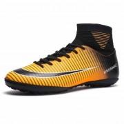 Hoge top antislip Wearable en comfortabele voetbalschoenen Soccer cleats voor mannen schoenmaat: 6.5 (TF zwart geel)