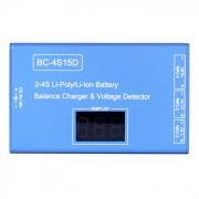 Cargador de bateria BC-4S15D litio Lipo con pantalla de voltaje - azul