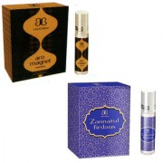 Set Of 2 Arochem Zannatul Firdaus And Aro Magnet Attar fragrance perfume 6 ml alcohol free essence oil
