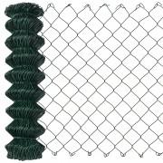 [pro.tec]® Drótháló kerítés 15 m x 80 cm drótkerítés PVC bevonattal zöld