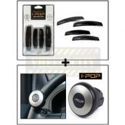 Combo Of Mini I-Pop Steering Knob & Black I-Pop Door Guard
