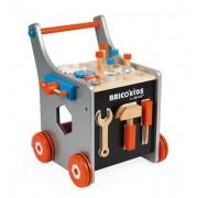 JANOD Drewniany wózek warsztat magnetyczny z narzędziami do majsterkowania dla dzieci, Bricolo 2018,
