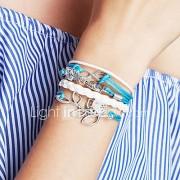 Dames Bedelarmbanden Wikkelarmbanden Lederen armbanden Basisontwerp Vriendschap Modieus Met de hand gemaakt PERSGepersonaliseerd