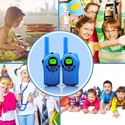 Sokos Walkie Talkies For Kids, 22 Channel 2 Way Radio 3 Miles (Up To 5Miles) Frs/Gmrs Handheld Mini Kids (Pair) (Blue)