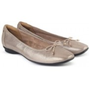 Clarks Candra Light Champagne Bellies For Women(Silver)