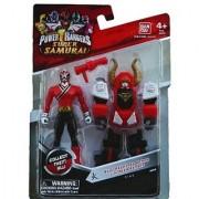 Saban's Power Rangers Super Samurai Bull Megazord Armor With Mega Ranger 4 Fire