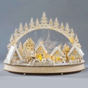 Detailed LED candle arch Winter Town