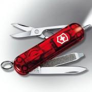 VICTORINOX | Nůž kapesní SIGNATURE RUBY LITE svíticí 58mm ČERVENÝ transparentní