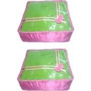 Addyz Plain 2saree Storage Cover Blouse Salwar Suit Shirt Jeans Case(Pink)