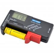EB AAA AA C D Probador De Baterías BT-168D 1.5V 9V Batería De Botón Recargable - Negro