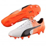 Puma evospeed 1.5 fg white / orange - Scarpe da calcio