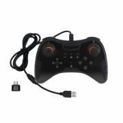 Controller joystick cu fir USB gamepad Dobe TNS-901 pentru Nintendo Switch Pro, negru