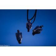 Pandantiv din lapis lazuli în formă de îngeras