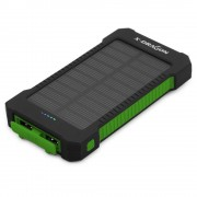 X-DRAGON Solar Power Bank Portable Charger Outdoor Emergency Battery for iPhone iPad Samsung Xiaomi Huawei Etc - Green