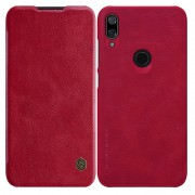 NILLKIN Qin Series Card Holder Leather Phone Case for Xiaomi Mi Play - Red