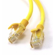Cablu UTP Patch cord cat. 5E, conectori 2x 8P8C, lungime cablu: 0.5m, bulk, Galben, GEMBIRD (PP12-0.5M/Y)