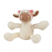 COW (4in) 10cm (White & Brown) with SQUEAKER