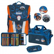 Scout Sunny Funny Snaps Mochila escolar con accesorios Set 4-pcs. rescue team
