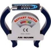 Tester universale per Batterie Alcaline e Ricaricabili da 1.5V. 9V e a Bottone (Lettura analogica) Ansmann