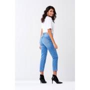 ''Gina Tricot'' ''Mom PETITE jeans'' ''Midblue f (5499)'' 34