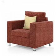 furniture4U - Fully Upholstered Single-Seater Sofa - Premium Valencia Orange