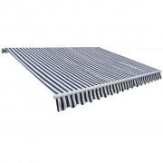 vidaXL Copertină retractabilă, culoare bleumarin și alb, 400 x 300 cm