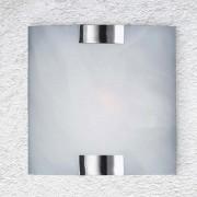 Trio Wandleuchte ohne Leuchtmittel, Nickel matt, Glas weiss