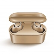 3D Stereo Sound Bluetooth 5.0 Earphone Portable TWS Wireless Touch Earbuds With Charge Case Sport Bass Headset - Gold