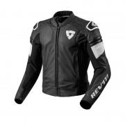 REV'IT! Motorradjacke, Motorradschutzjacke REV'IT! Akira Lederjacke schwarz/weiß 48 weiß