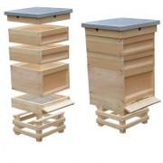 Ul drewniany Dadant nieocieplany, 10-ramkowy, 1 x korpus gniazdowy, 2 x półnadstawka