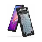 Husa Protectie Spate Ringke Fusion X Design Hexagon Black pentru Samsung Galaxy S10 Plus