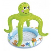 Smiling Octopus Shade Baby Pool Inflatable Pool(Green White)