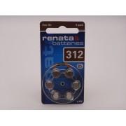 RENATA 312, PR41, 1.45V baterie auditiva blister 6 buc